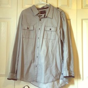 GUESS Men's Long Sleeve Dress Shirt LARGE
